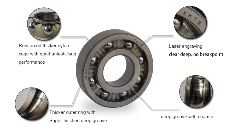 Nylon Cage Ball Bearing Feature